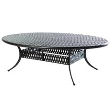 "Weave 100"" x 70"" Oval Egg Dining Table w/ Umb hole"