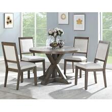 Molly 5 Piece 48-inch Round Set(Table & 4 Side Chairs)