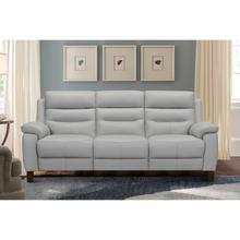 """See Details - Hayward 82"""" Dove Gray Genuine Leather Power Reclining Sofa"""