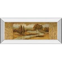 """River Scene I"" Mirror Framed Print Wall Art"