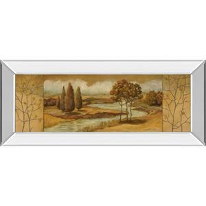 """""""River Scene I"""" Mirror Framed Print Wall Art"""