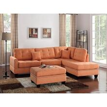 Amelia 3pc Sectional Sofa Set, Citrus