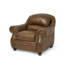 Aston Leather Chair in Bark Espresso