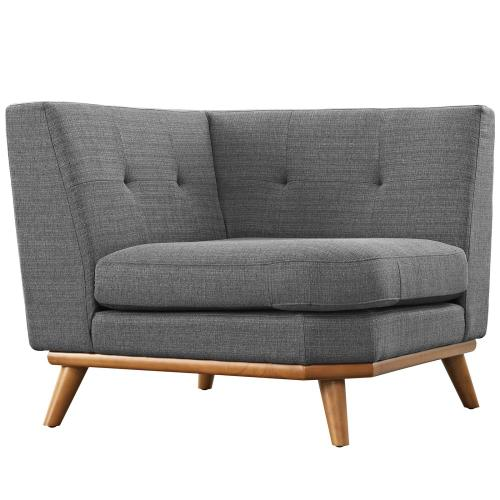 Modway - Engage 5 Piece Sectional Sofa in Gray