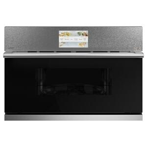 "Cafe Appliances30"" Smart Five in One Oven with 120V Advantium® Technology in Platinum Glass"