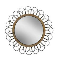 "36"" Daisy Wall Mirror, Black"