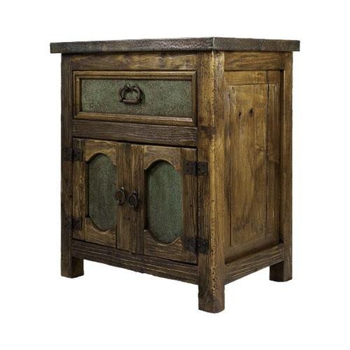 L.M.T. Rustic and Western Imports - Capitel Copper Nightstand
