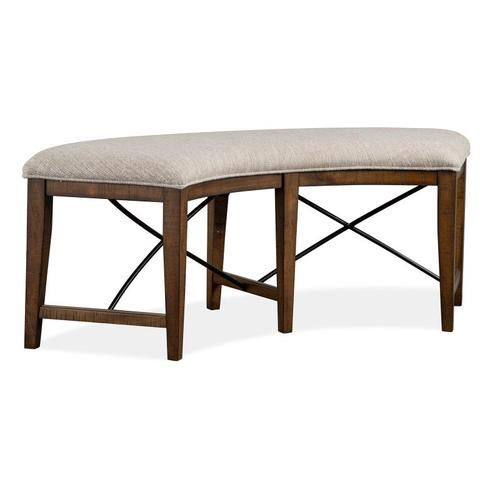 Magnussen Home - Curved Bench w/Upholstered Seat