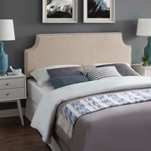 View Product - Laura King Upholstered Fabric Headboard in Beige