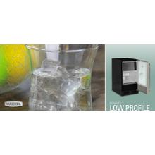 "15"" Low Profile Clear Ice Machine - With Factory-Installed Drain Pump - Solid Panel Overlay Ready Door - Left Hinge"
