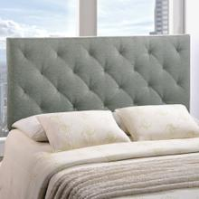 Theodore Full Upholstered Fabric Headboard in Gray