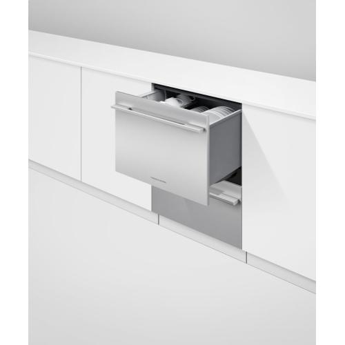 """Fisher & Paykel - Integrated Double DishDrawer"""" Dishwasher, Tall, Sanitize"""