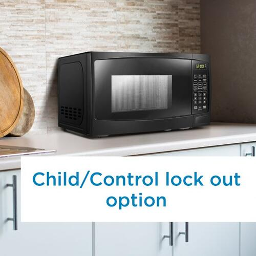Danby - Danby 0.7 cu ft. Black Microwave with Convenience Cooking Controls