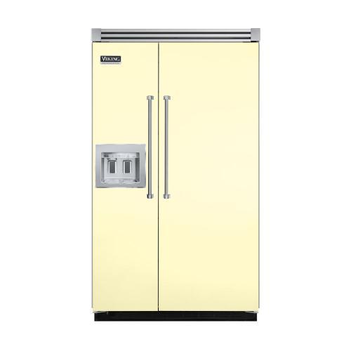 "Viking - Lemonade 48"" Quiet Cool™ Side-by-Side with dispenser - VISB Tru-Flush™ (48"" wide)"