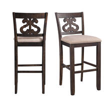 "Stone 30"" Swirl Back Bar Stool Set"