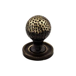 Top Knobs - Paris Knob Mottled 1 1/4 Inch w/Backplate Dark Antique Brass