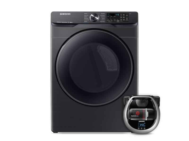 SamsungWi-Fi Connected Gas Dryer With Steam Sanitize+ And Pet Plus Robot Vacuum