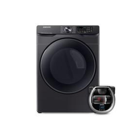Wi-Fi Connected Electric Dryer with Steam Sanitize+ and Pet Plus Robot Vacuum