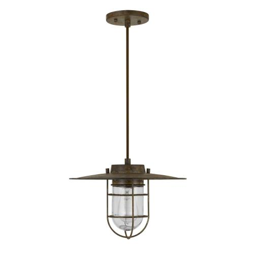 Owenton Old industrial Metal Pendant With Glass Shield (Edison Bulb Not included)