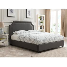 Brantford Platform Bed - King, Charcoal