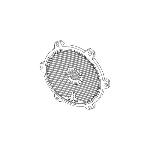 JL Audio - White Classic Grille/Tweeter Assembly for M650