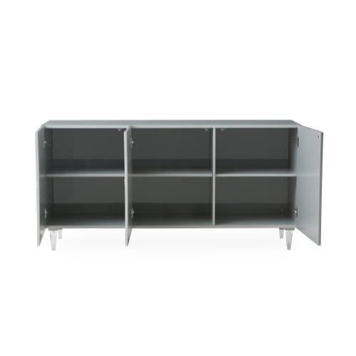 Tov Furniture - Deco Grey Lacquer Buffet