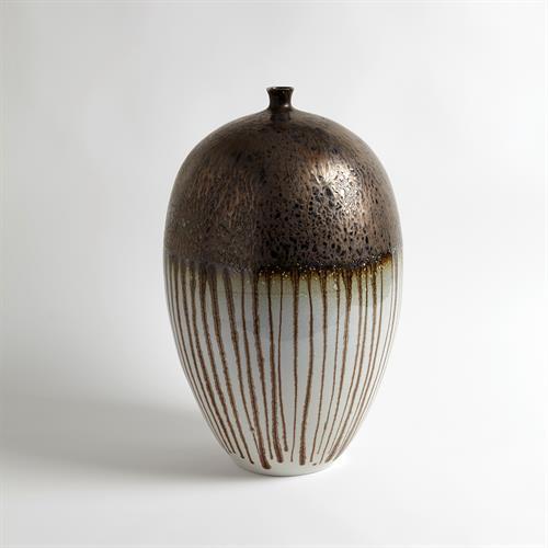 Reactive Bronze Stripe Vessel-Sm