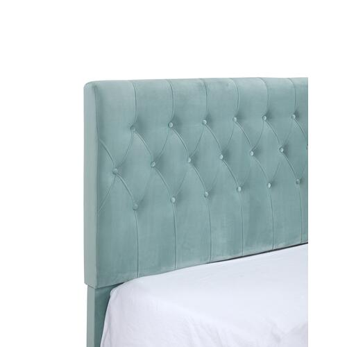 Amelia King Upholstered Bed, Light Blue B128-12hbfbr-04