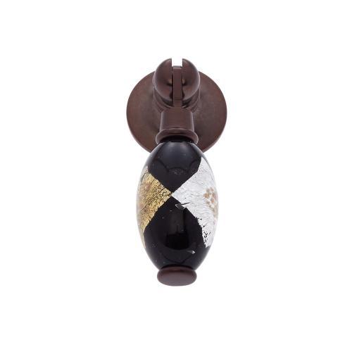 Old World Bronze 30 mm Black Pendant Pull