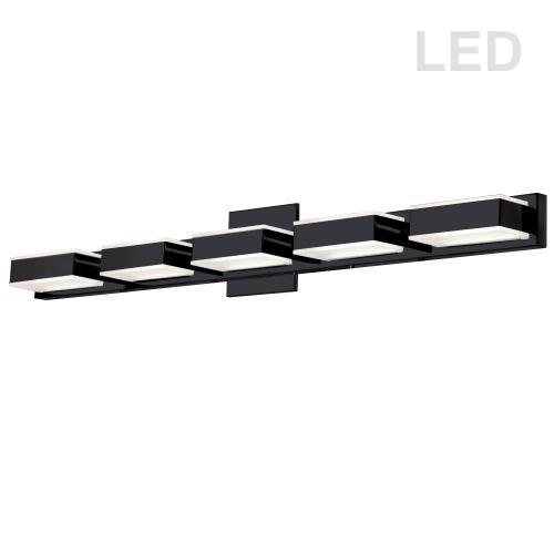 25w LED Wall Vanity, Matte Black Finish