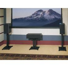 """See Details - Black Steel Series 18"""" tall for center-channel speakers"""