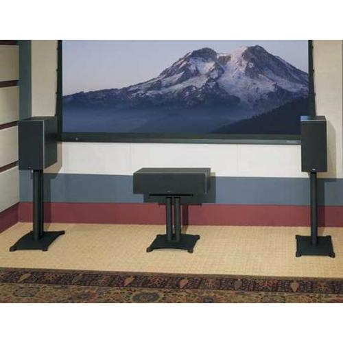 """Black Steel Series 18"""" tall for center-channel speakers"""
