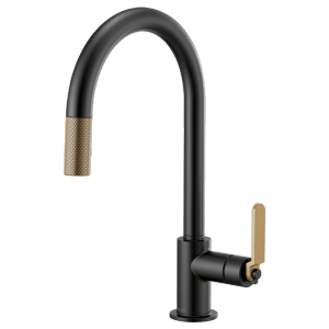 Pull-down Faucet With Arc Spout and Industrial Handle Product Image