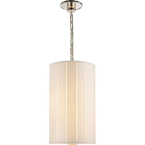 Visual Comfort BBL5033SS-S Barbara Barry Perfect Pleat 2 Light 13 inch Soft Silver Hanging Shade Ceiling Light