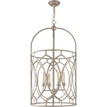 Visual Comfort CHC2536BSL E. F. Chapman Marquise 6 Light 21 inch Burnished Silver Leaf Foyer Pendant Ceiling Light