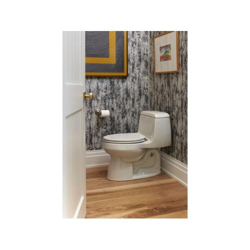 One-Piece High-Efficiency Toilet, Less Seat - Stucco White