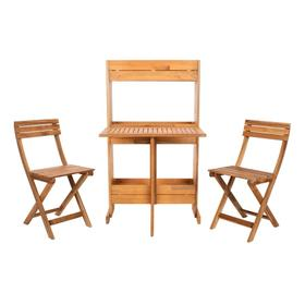 Barley Flower Shelf 3 PC Bistro Set - Natural