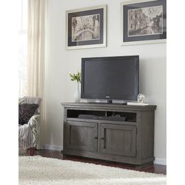 """See Details - 54\"""" Console - Distressed Dark Gray Finish"""