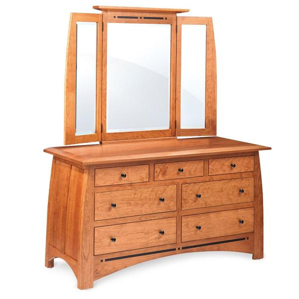 See Details - Aspen 7-Drawer Dresser with Inlay, 60'w x 24'd x 33'h