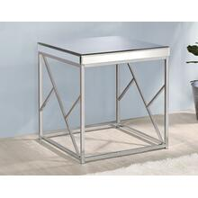 Evelyn End Table, Chrome