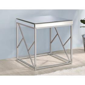 Evelyn End Table, Chrome