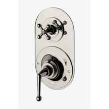 Dash Metal Lever Handle Thermostatic with Metal Cross Handle Two way Diverter Trim in Chrome