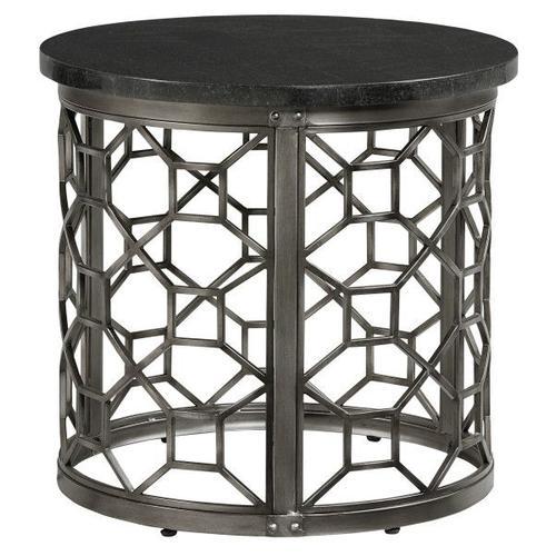 Equinox, Round End Table, Grey