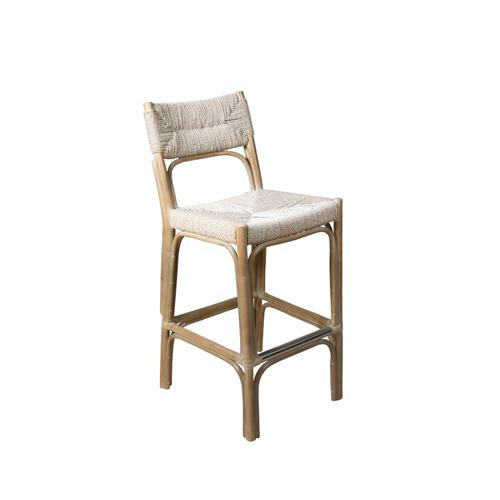 Capris Furniture - 30'' Bar Stool, Available in Grey Twine Finish.