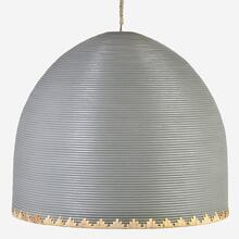 "35"" Maya Rattan Dome Chandelier, Light Gray(**40"" cord, not adjustable)"