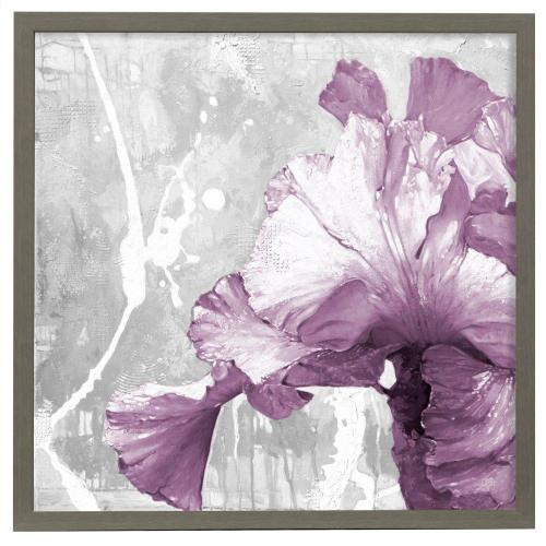 Style Craft - Touch of Plum II  32in X 32in Promotional Framed Print Under Glass  Ready to Hang