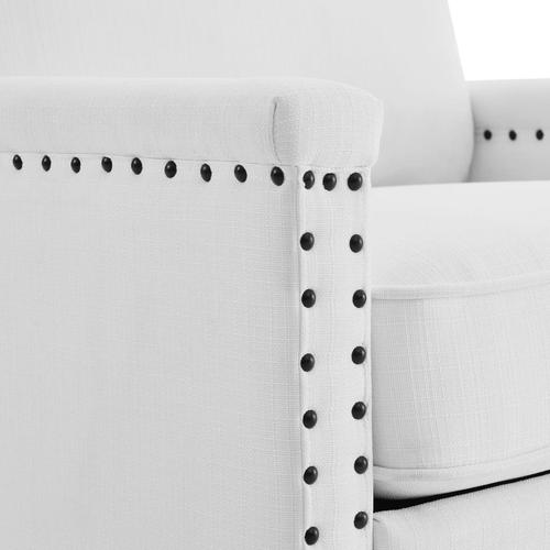 Modway - Ashton Upholstered Fabric Armchair in White