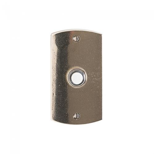 Convex Doorbell Button White Bronze Medium