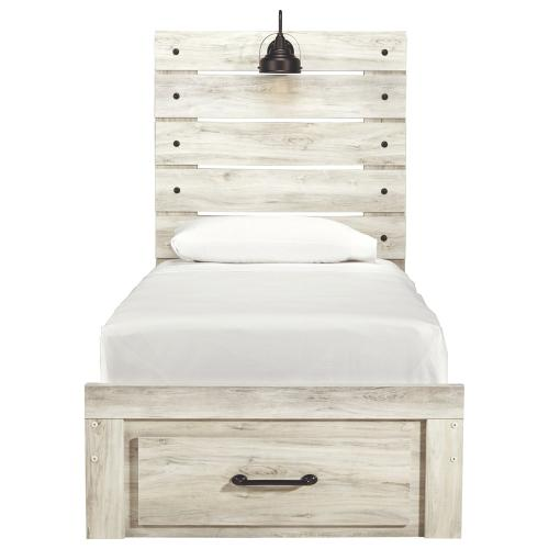 Cambeck Twin Panel Bed With 1 Storage Drawer