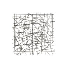 """View Product - Metal 21"""" Abstract Square Wall Decor, Black Wb"""